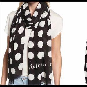 Kate Spade Grid Dot Scarf